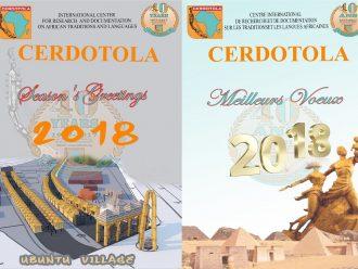 CERDOTOLA : BEST WISHES – MEILLEURS VŒUX 2018